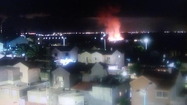 Rocket fire on Sderot from Gaza on Friday night