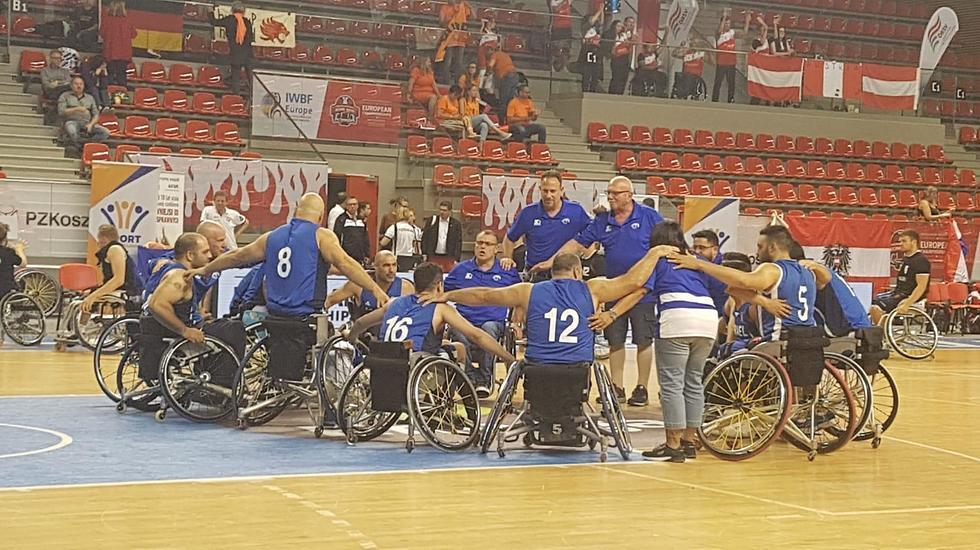 שחקני נבחרת ישראל (צילום: הוועד הפראלימפי)