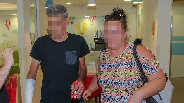 The 60-year-old father at the hospital (Photo: Yariv Katz)