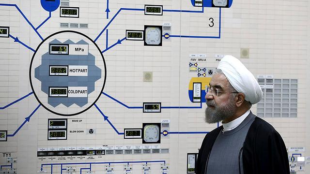 Iranian President Hassan Rouhani at the Bushehr nuclear facility (Photo: AP)