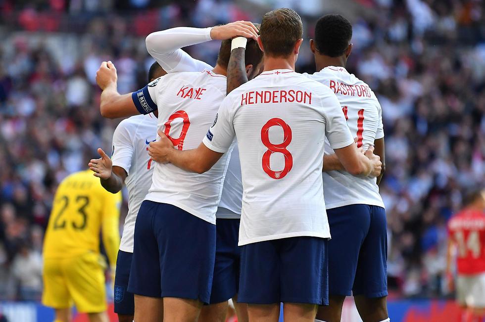 נבחרת אנגליה (צילום: AFP)