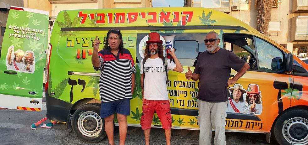 כושי רימון, גדי וילצ'רסקי ועמי פינשטיין- מפלגת אדום לבן (צילום: איתי שיקמן)