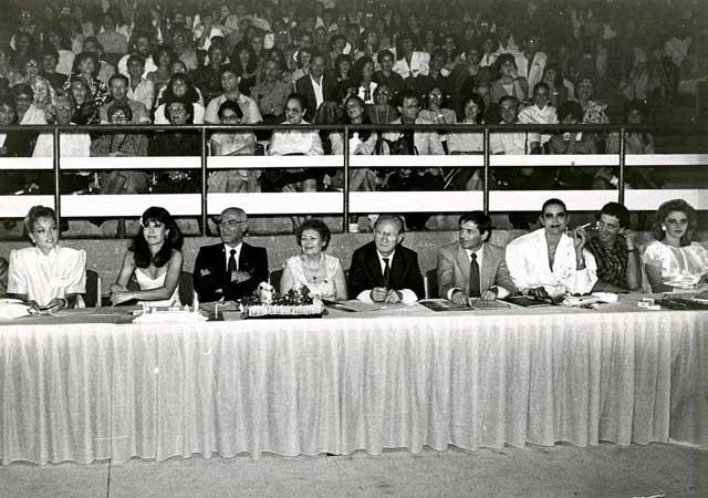 Судейский стол на конкурсе красоты 1986 года. Фото: Ахарон Йослевич