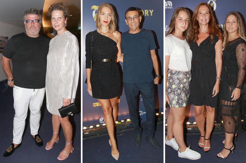 מימין: מירי גולדפרב ובנותיה, ג'ני צ'רוואני ורוני מאנה, הילה ורני רהב  (צילום: ענת מוסברג)