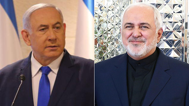 Benjamin Netanyahu, left, and Mohammad Javad Zarif (Photos: Reuters, Alex Kolomoisky)