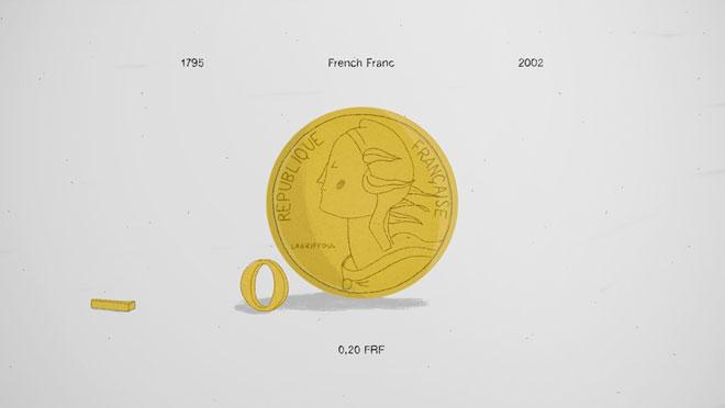 מתוך פרויקט המטבעות, שמציג כל מטבע של מדינה אירופאית שנכנסה לאיחוד (צילום: New Gold)