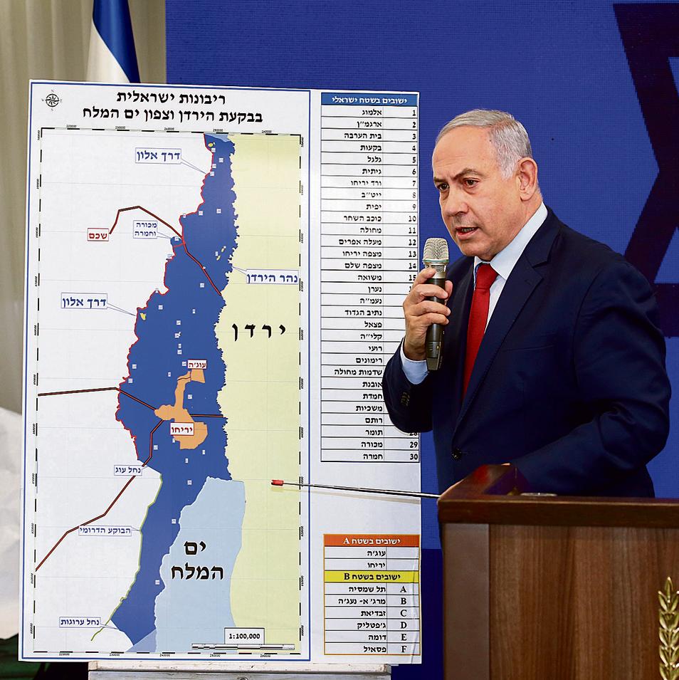Benjamin Netanyahu presents his plan to annex the Jordan Valley and the northern Dead Sea region