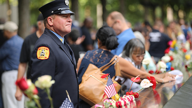 טקס זיכרון להרוגי פיגועי 11 בספטמבר בניו יורק (צילום: gettyimages)