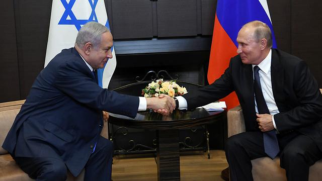 Встреча Нетаниягу и Путинa в Сочи. Фото: Амос Бен-Гершом - ЛААМ (Photo: GPO)