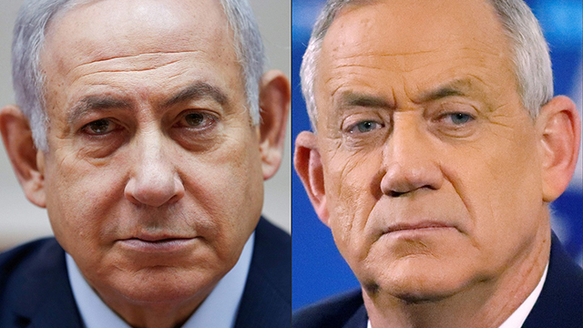 Benjamin Netanyahu (left) and Benny Gantz face off in second election in six months (photo: AFP) (Photo: AFP)