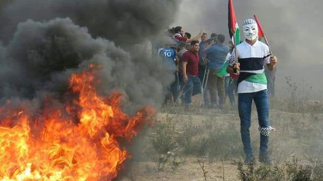 Riots on the Gazan border (Photo: AFP)