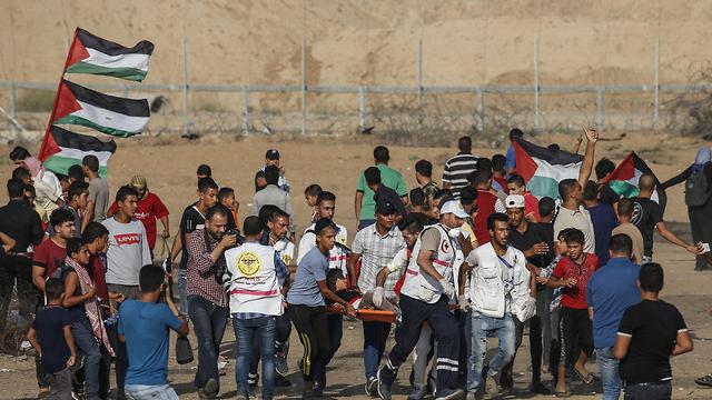 Demonstration along the Israeli-Gaza border (Photo: AFP) (Photo: AFP)