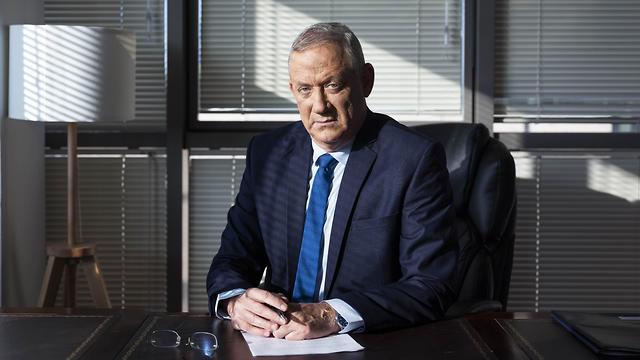 Blue and White leader Benny Gantz sits in his Tel Aviv office, Sept. 12. 2019