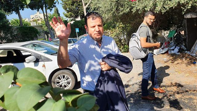 Joint List leader Ayman Odeh near his home in Haifa  (Photo: Gil Nechushtan)