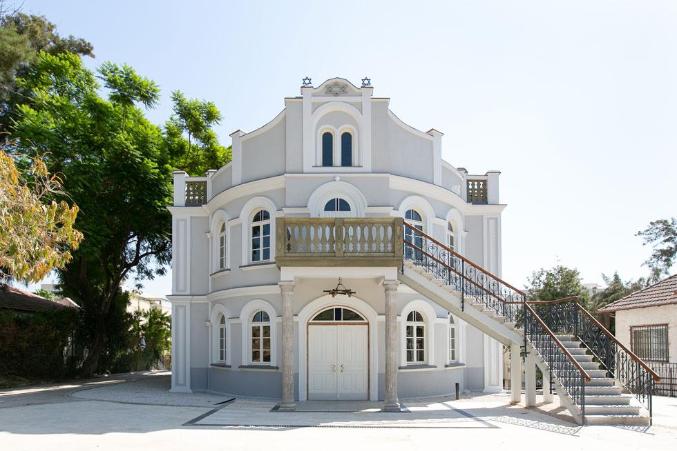 בית הכנסת המחודש של נס ציונה. נחנך ב-1926, נחנך מחדש ב-2019 (צילום: דור נבו)