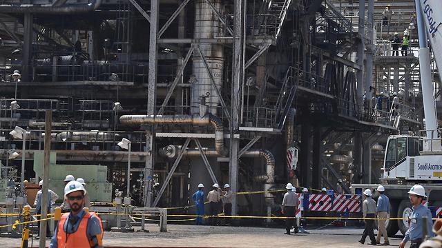 סעודיה ערב הסעודית תקיפה תקיפות מפעל (צילום: AFP)