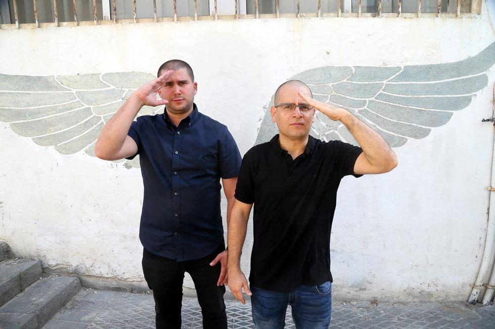 """עידו כהן (מימין) ורפאל בוסידן. """"הזדמנות לאנשים לחוות את מה שאנחנו מתמודדים איתו ביום-יום"""" (צילום: יריב כץ)"""