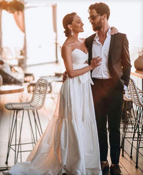 בחתונה השנייה: ארונוב בשמלת כלה שעיצבה ליהי הוד (צילום: שיצו צלמים)