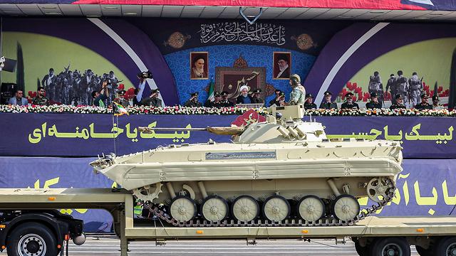 An Iranian military parade in Tehran (Photo: AFP/Iranian Presidency)