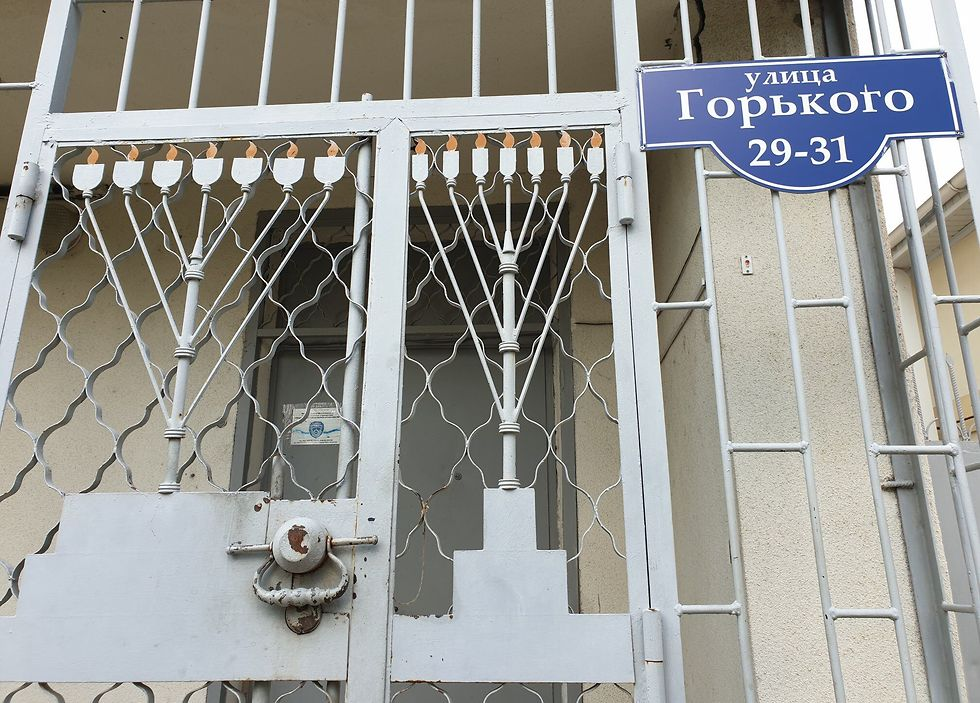The closed gate of the only active synagogue of Tiraspol, Transnistria (Photo: Courtesy of Roman Yanushevsky/Channel 9) (Photo: Roman Janowski)