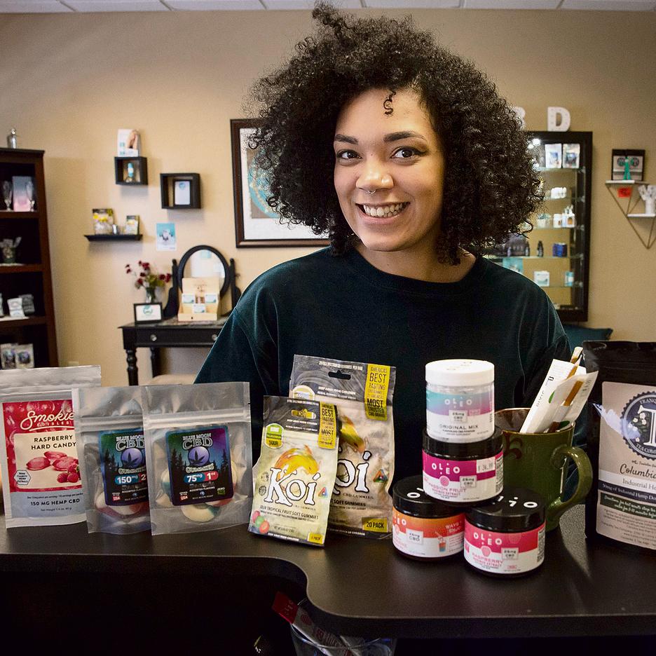 חנות למכירת מגוון מוצרים עם CBD ביוג'ין, אורגון