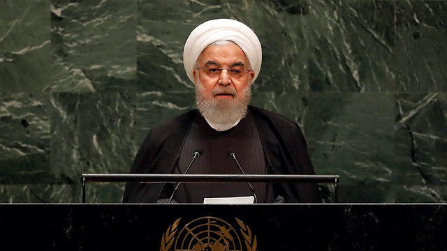 Iranian President Hassan Rouhani addresses the UN General Assembly, Sept. 25, 2019 (Photo: AP)