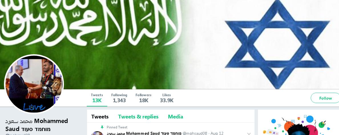 Страница Сауда в твиттере