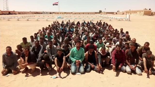 Арестованные подозреваемые в терроре на Синае