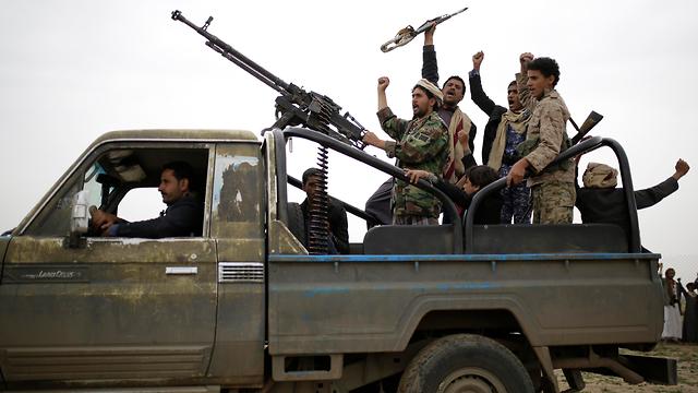 חות'ים מורדים ב תימן המורדים החות'ים (צילום: AP)