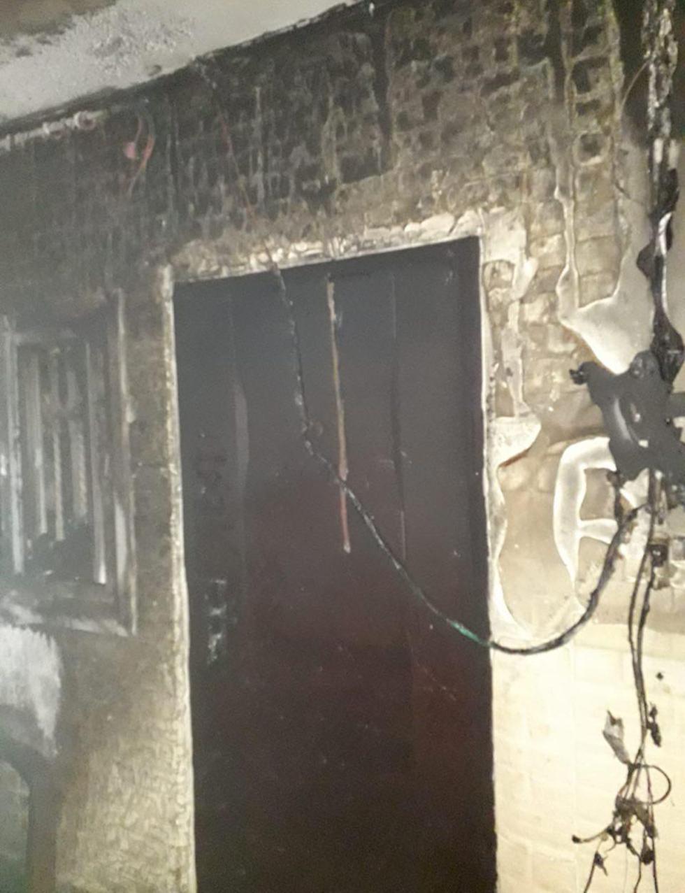 שריפה הצתה שכונה שועפט צפון ירושלים (צילום: כבאות והצלה)
