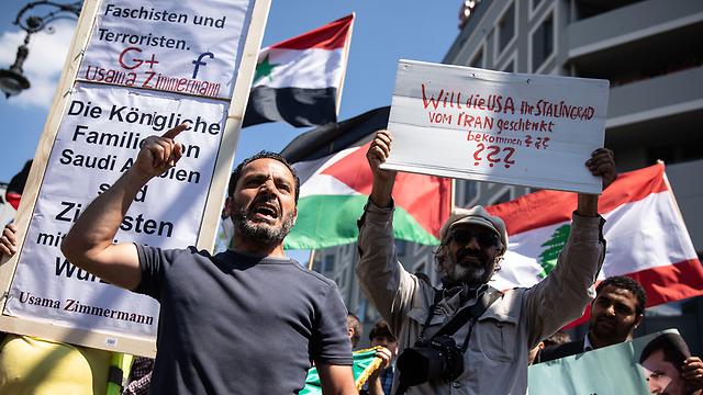 Anti-Israel protesters in Berlin