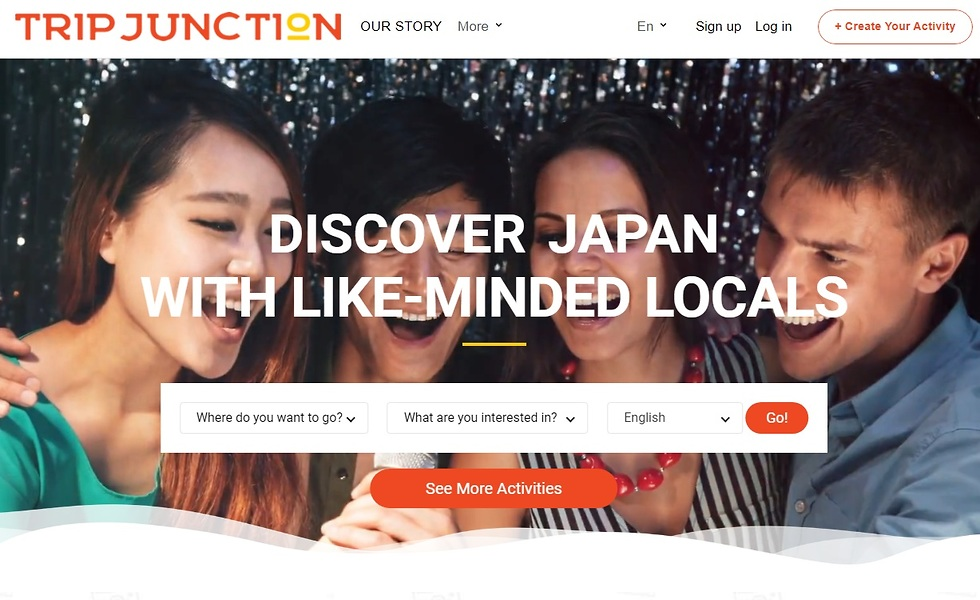 האתר טריפ ג'נקשן (מתוך האתר tripjunction.com)