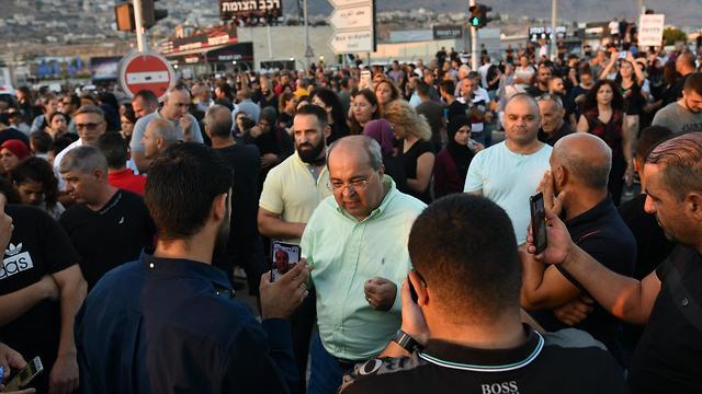 אחמד טיבי הפגנה מג'ד אל כרום (חאג' אבו פאנה)