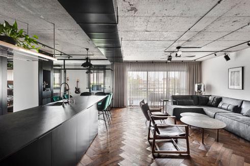חדר נגינה, עבודה וצפייה בקצה הסלון. עיצוב: ניצן הורוביץ (צילום: עודד סמדר)