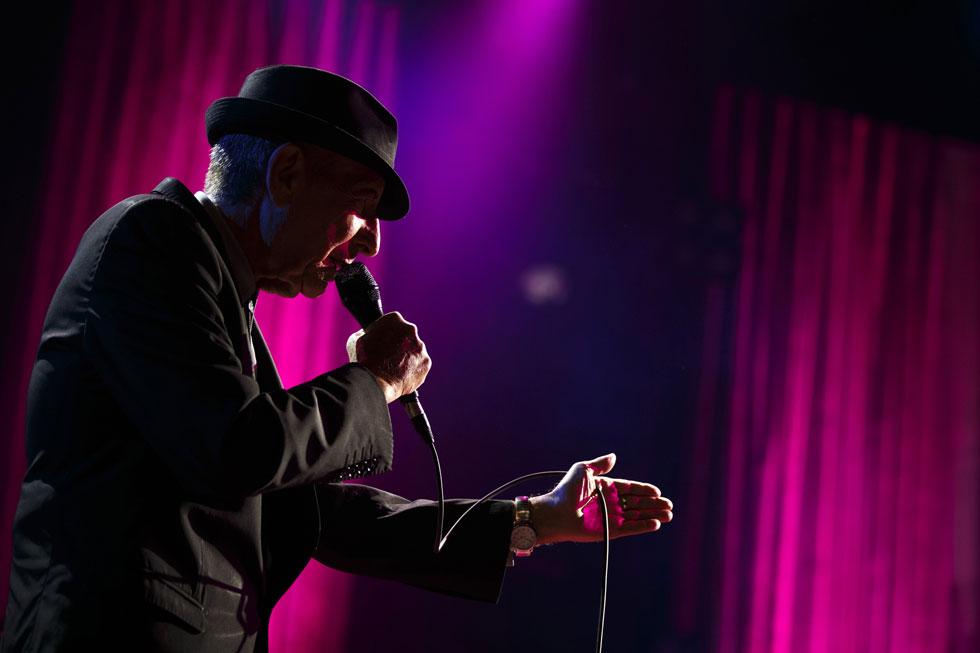 """כהן בפסטיבל הג'אז במונטריי, 2013. """"כל מה שעשיתי בחיי – יין, נשים, שירה, דת ומדיטציה – היה במסגרת המאבק בדיכאון""""  (צילום: reuters)"""