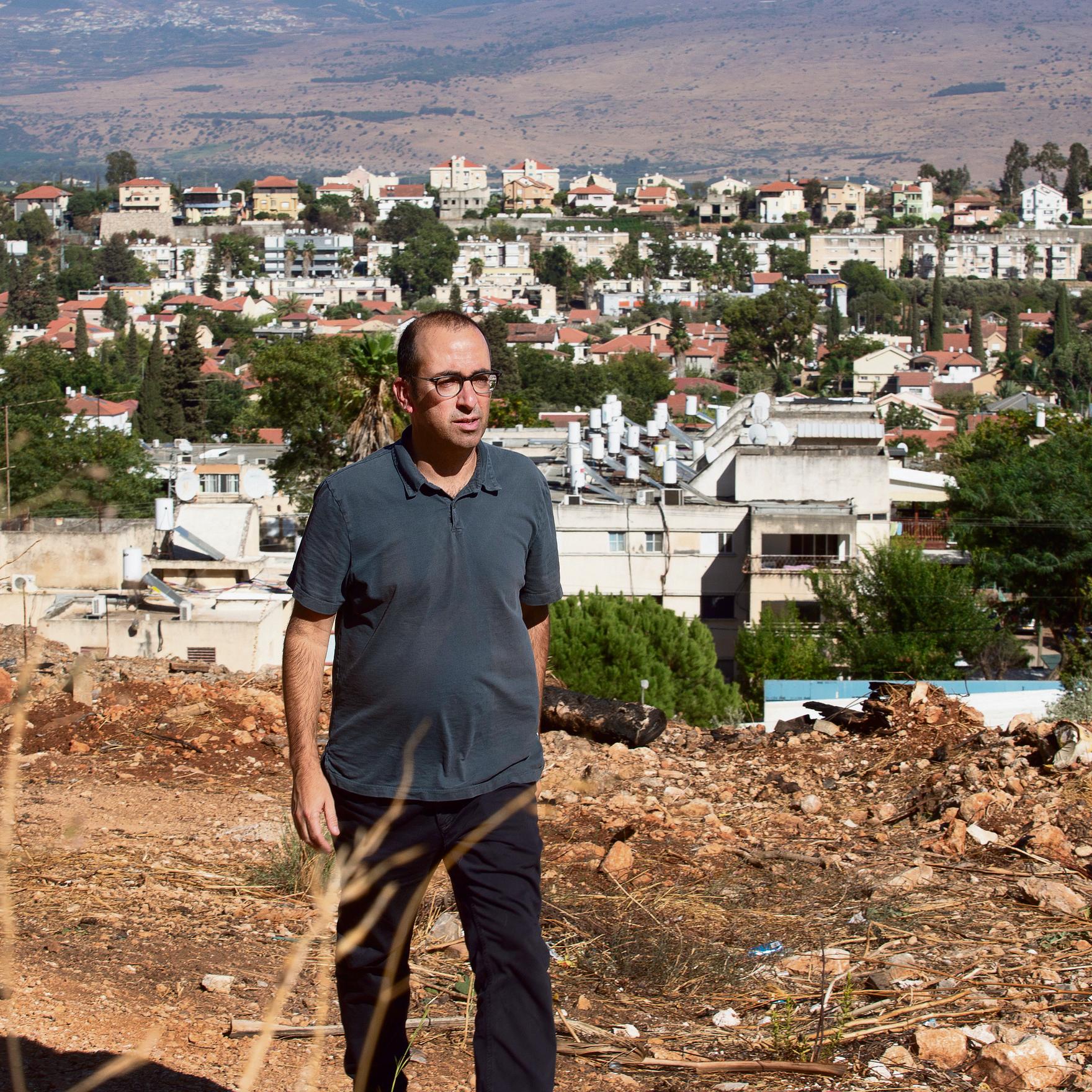 קריית־שמונה תמשיך כנראה לחכות למדינת ישראל. שריד במהלך הביקור | צילום: אביגיל עוזי