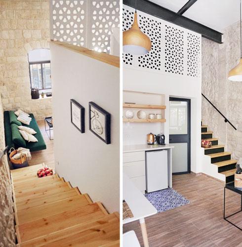 גלריית שינה נבנתה מעל חדר הרחצה (צילום: יעלי גבריאלי)