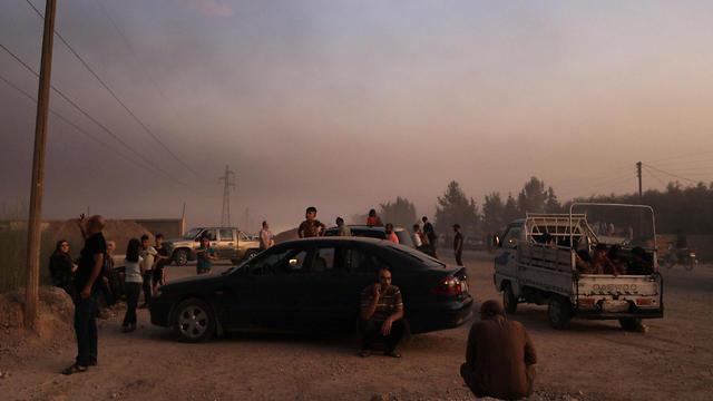 עיירה בסוריה לאחר כניסת הטורקים  (צילום: רויטרס)