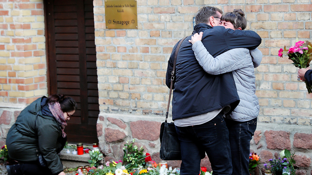 The scene of the deadly Yom Kippur attack at a synagogue in Germany   (Photo: Reuters)