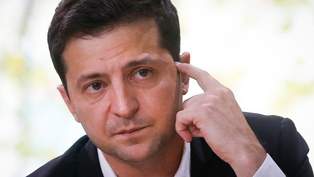 נשיא אוקראינה וולודימיר זלנסקי (צילום: AP)