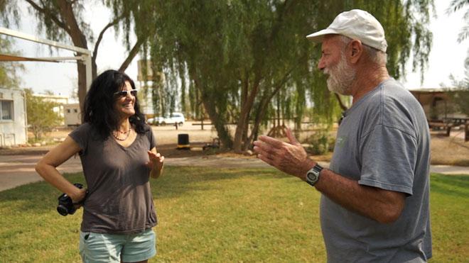 """בראיון עם אחד מוותיקי הערבה. """"קהילה יציבה היא פרי מארג של אנשים מגוונים ושונים זה מזה"""" (צילום: אלבום פרטי)"""