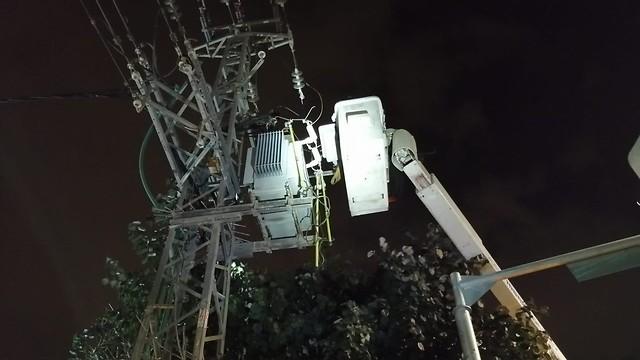 עבודות חברת חשמל (צילום: חברת החשמל)
