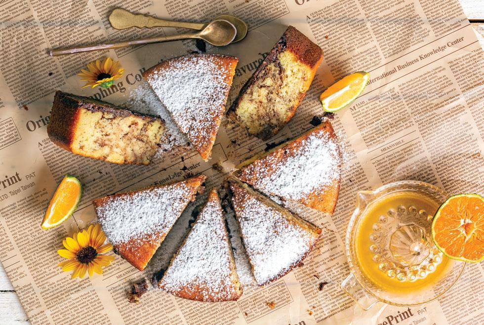 עוגת שיש קלמנטינה ב-4 דקות (צילום: בועז לביא, סגנון: עמית דונסקוי)