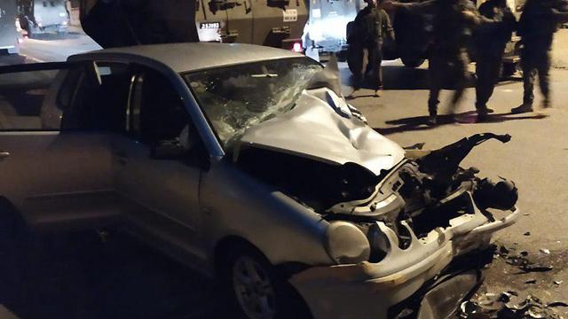 На месте теракта у Рамаллы. Фото: пресс-служба полиции