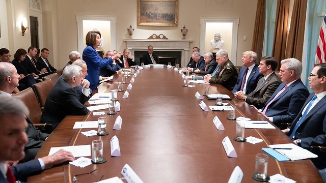 Pelosi stands up to Trump
