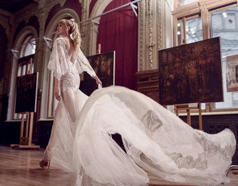 שמלת כלה בעיצובה של חפץ (צילום: אסי ביטון)