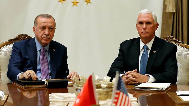 Turkish President Recep Tayyip Erdogan and U.S. VP  Mike Pence (Photo: Reuters)