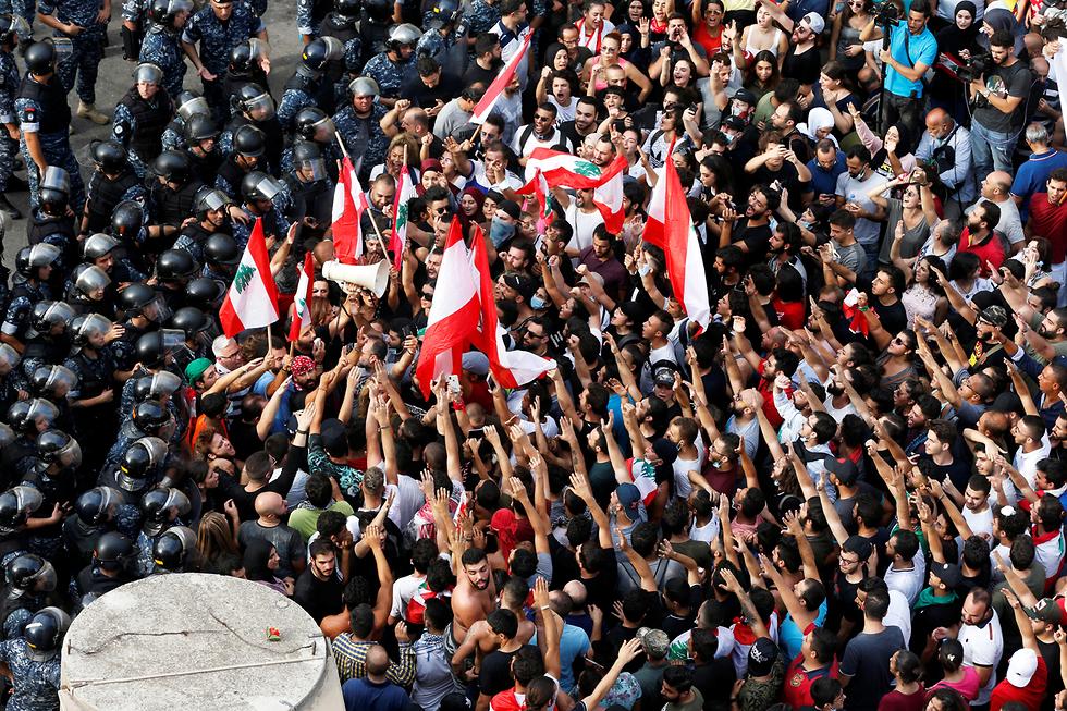 מחאות בלבנון נגד האלימות (צילום: רויטרס)