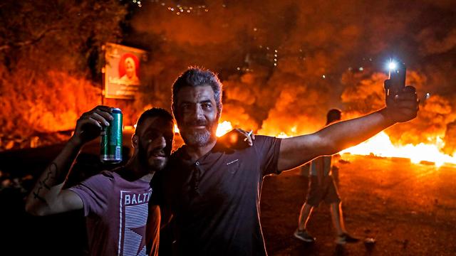 Демонстрации в Ливане. Фото: AFP