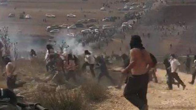 Riots in the Yitzhar area last week